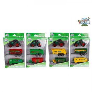 Kids Globe tractor set 3 delig diecast