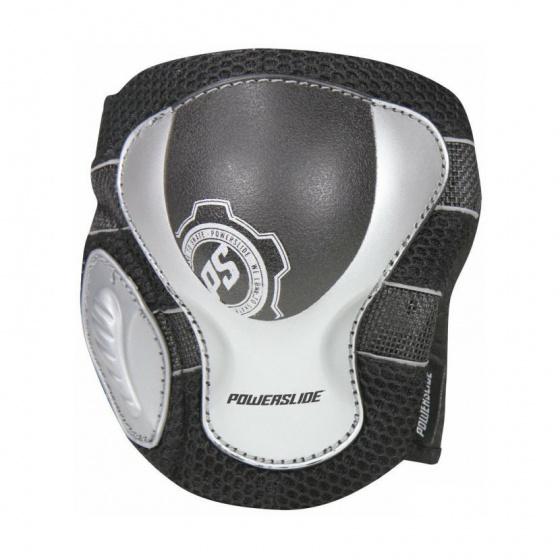 Powerslide kniebeschermers unisex zwart Maat L