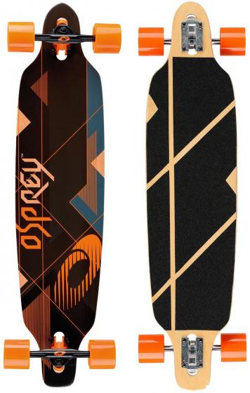 Osprey longboard Nexus 99 x 24 cm esdoorn zwart/oranje