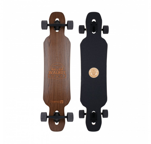 Tempish longboard Walnut 99 x 21 cm zwart/bruin