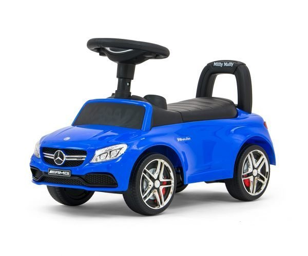 Milly Mally loopauto Mercedes junior 63 x 28 x 38 cm staal blauw