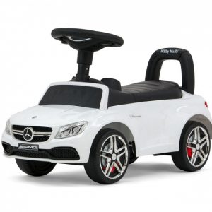 Milly Mally loopauto Mercedes junior 63 x 28 x 38 cm staal wit