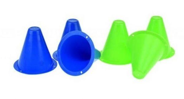 Toi-Toys minipionnen 8 cm blauw/groen 6 stuks