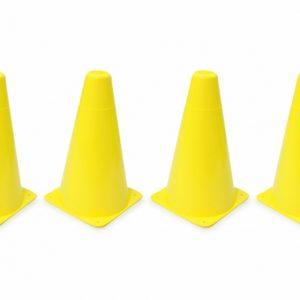 JAMARA pionnen Traffic 10 x 17 cm geel 4 stuks