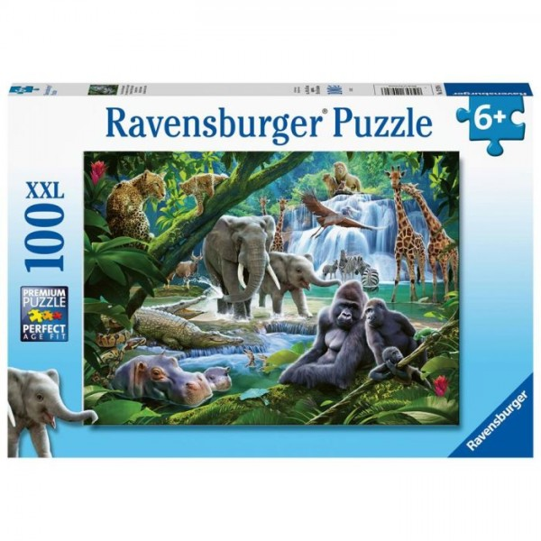Ravensburger Puzzel Jungle Families 100 Stukjes XXL