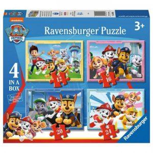 Ravensburger Puzzel Paw Patrol (12+16+20+24 Stukjes)