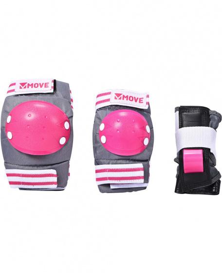 Move skate bescherming 3-delig basic roze