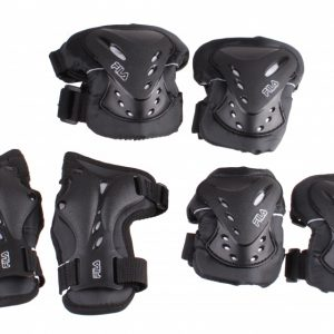Fila skate beschermingsset unisex zwart 6-delig