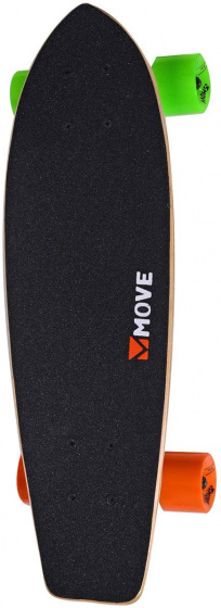 Move skateboard Cruiser 59 cm hout/aluminium zwart