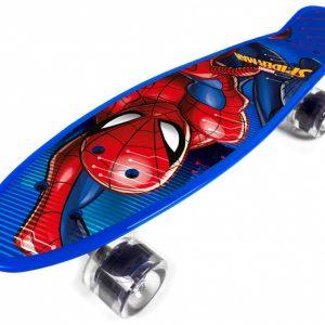Marvel skateboard Spider-Man 55 cm polypropyleen blauw/rood
