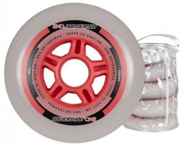 Powerslide skatewielen One 100 mm polyurethaan rood 4 stuks