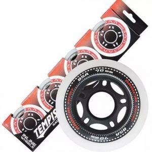 Tempish skatewielen Radical 72 mm / 84A wit/zwart 4 stuks
