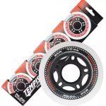 Tempish skatewielen Radical 80 mm / 84A wit/zwart 4 stuks