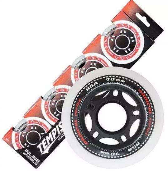 Tempish skatewielen Radical 84 mm / 84A wit/zwart 4 stuks