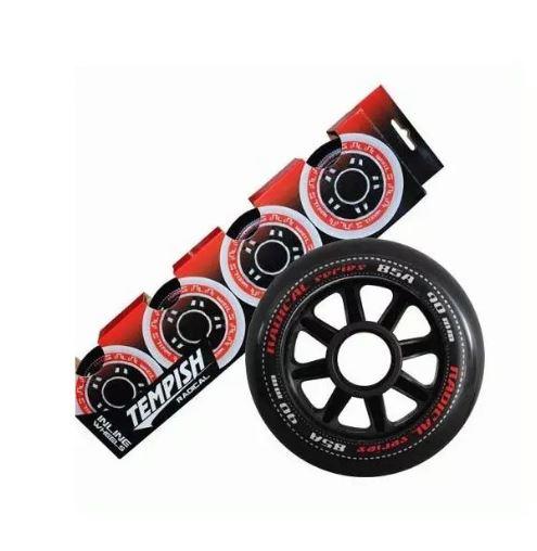 Tempish skatewielen Radical 90 mm / 85A zwart 4 stuks
