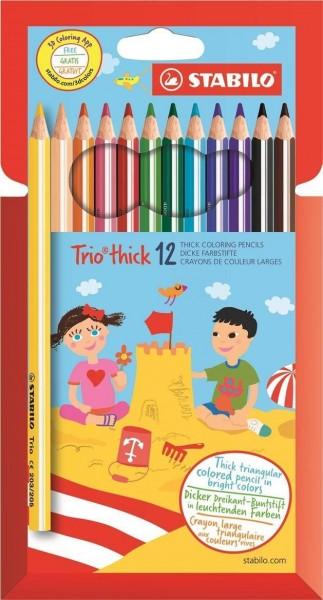 Stabilo Trio Dik Kleurpotlood (12 stuks)