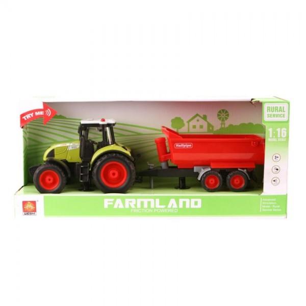 Tractor met Aanhanger Rood B/O