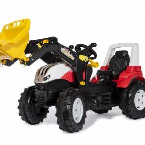 Rolly Toys traptractor met lader Steyr rood/zwart 146 x 52