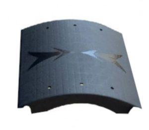 Rampage verbindingsstuk skate-ramp 60 x 8 cm PE zwart