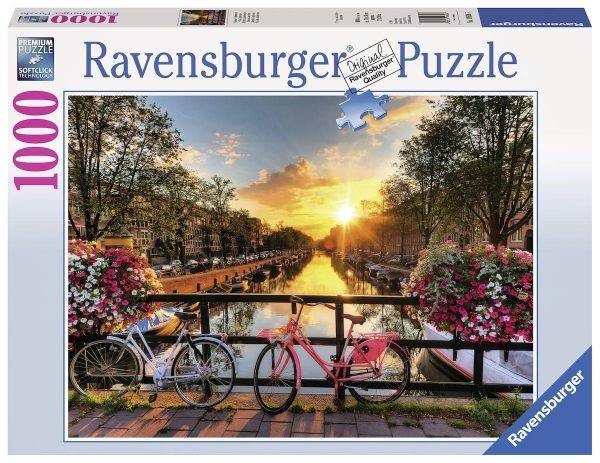 Ravensburger puzzel 1000 stukjes Fietsen in Amsterdam