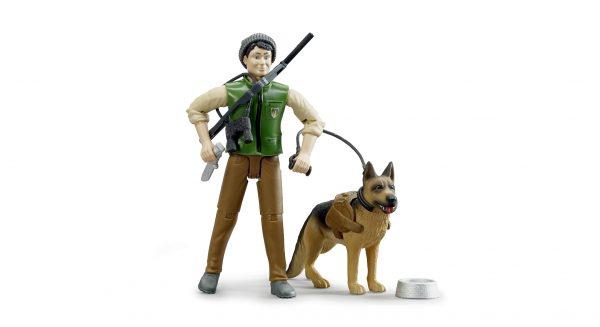 Bruder bworld ranger met hond en accessoires