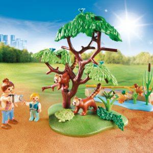 PLAYMOBIL® Family Fun 70344 Rode panda`s in het buitenverblijf