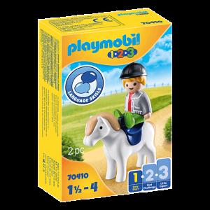PLAYMOBIL® 1.2.3. 70410 Jongen met pony