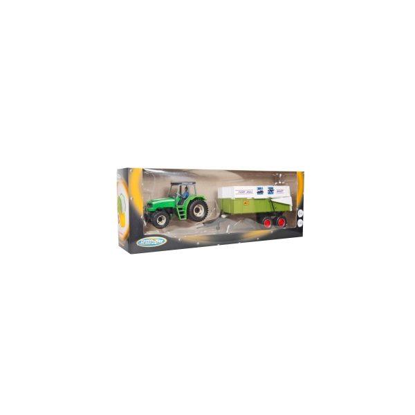 Tractor met aanhanger 1:32